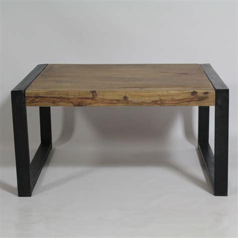 le bureau industrielle table basse industrielle carrée en bois de palissandre