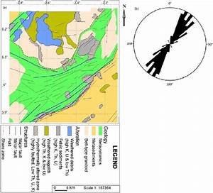 A  Integrated Geological Map Of The Study Area   B  Rose