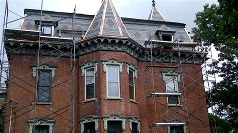 empire victorian slate roof  mansard