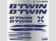 B´TWIN kit2 autocollants pour vélo, vinyls, décalcomanies