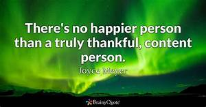 There's no ... Joyce Meyer Thankful Quotes