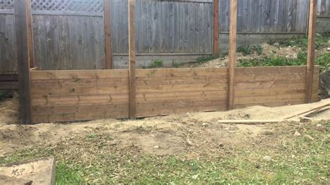 small timber retaining wall how to build a timber retaining wall youtube