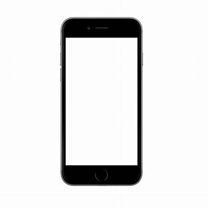 Iphone Phone Mockup Transparent Screen Outline Clipart