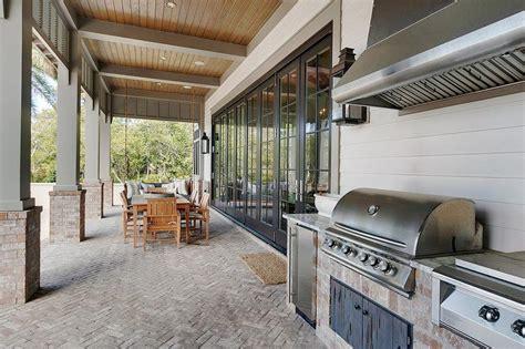 Gray Steel Double Patio Doors With Glass Panels