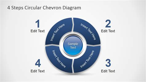 steps circular chevron powerpoint diagram diagrams