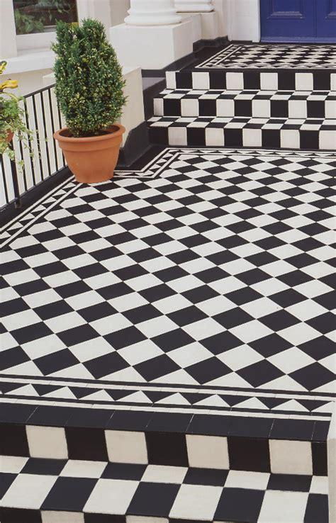 black  white floor tiles idea victorian tiles