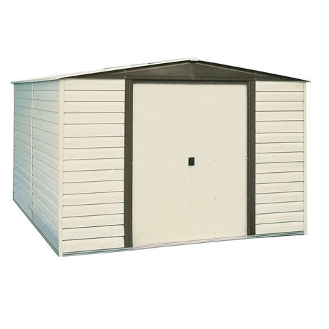 Metal Storage Shed Home Depot by Arrow Vinyl Dallas Vinyl Coated Metal Shed 10 Ft X 6 Ft