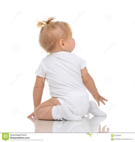 Infant Child Baby Toddler Sitting Backwards Back Wiev And