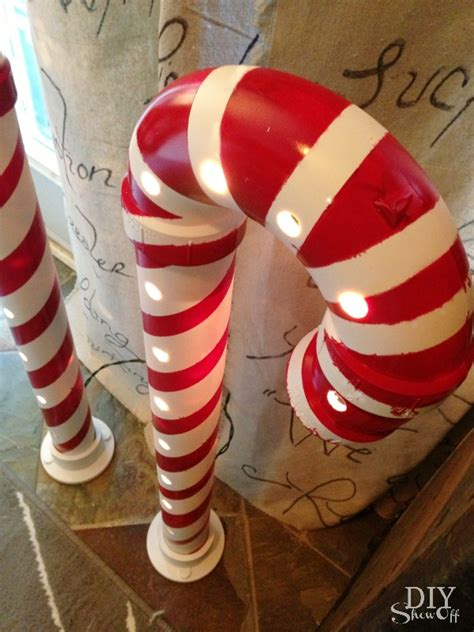 plastic candy cane yard decorations lighted pvc canes diy home decor diy show diy decorating and home