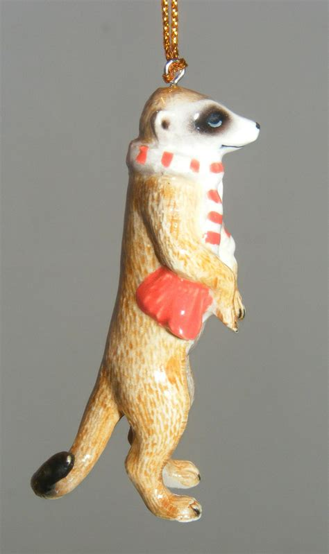 northern rose porcelain christmas tree decoration meerkat