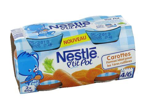 petits pots nestle carottes 4 6 mois 2x80g tous les produits assiettes petits pots de