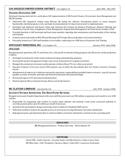 Unified Functional Testing Resume by Craig Dickerson Resume Talent Management Organizational Development