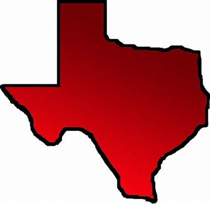 Texas Outline Map Clipart State Silhouette Vector