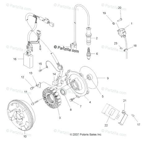 polaris atv 2010 oem parts diagram for electrical ignition system partzilla