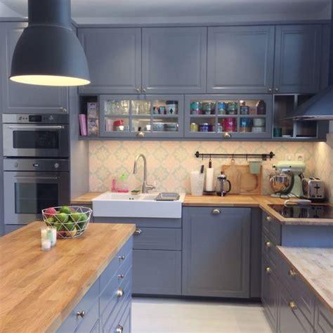 cuisine scandinave design nouvelle cuisine ikea bodbyn gris metod tendance