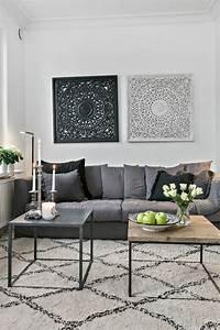 1001 idees pour une deco salon zen les interieurs With meuble salon noir et blanc 18 la deco de la maison objets en bois archzine fr