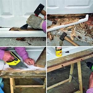 comment reparer un bas de porte d39entree bricobistro With reparer porte en bois enfoncee