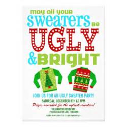 ugly and bright christmas sweaters party 5x7 paper invitation card zazzle