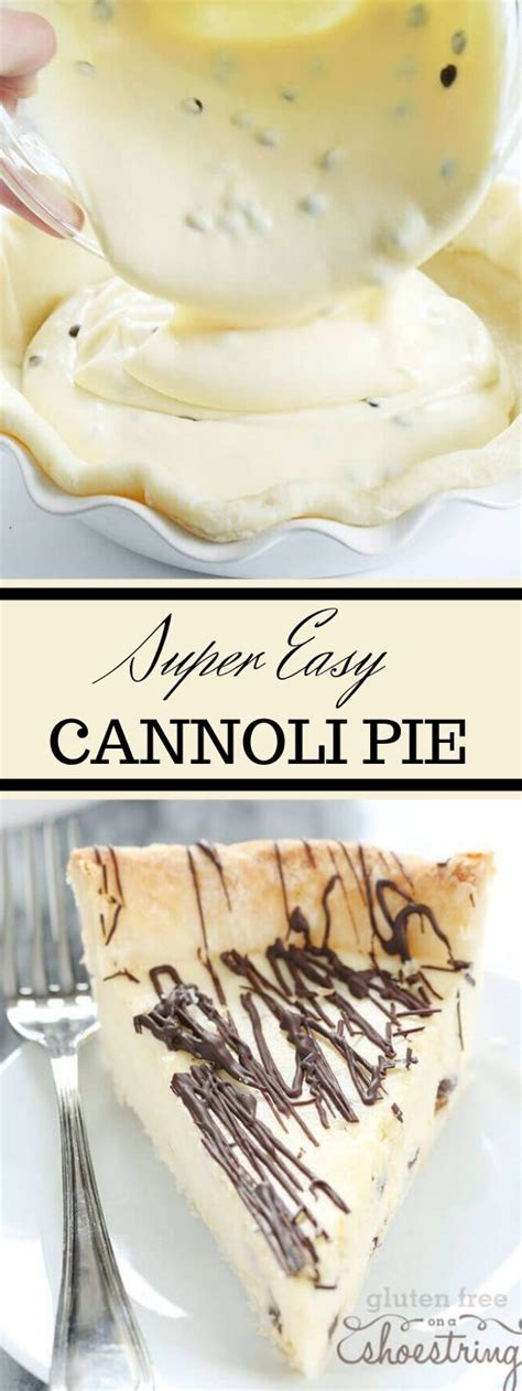 They either have few ingredients involved or they're nice and quick to whip up. Super Easy Gluten Free Cannoli Pie #pie #desserts #cakes # ...