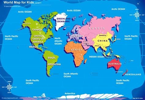 world map  kids royalty  images  printable