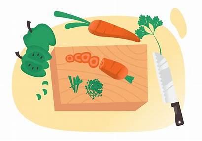 Vegetables Cutting Clipart Knife Veggies Schneiden Vectors
