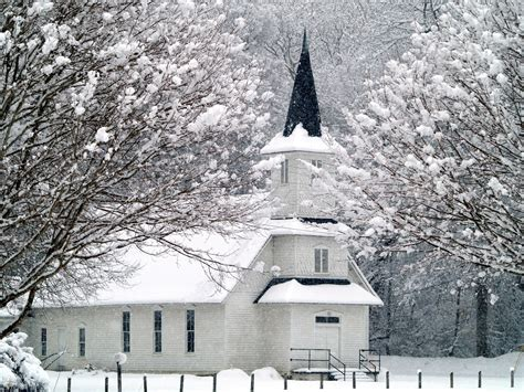 christmas morning from the back row churches snow and