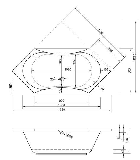 Sechseck Badewanne Maße by Badewanne Sechseck 180 X 80 X 44 Badewanne Badewanne
