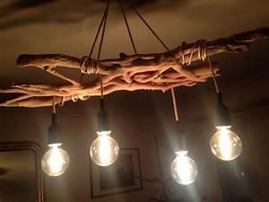 Luminaire En Bois Flotté : lustre en bois lustres luminaire projecteur led ~ Teatrodelosmanantiales.com Idées de Décoration