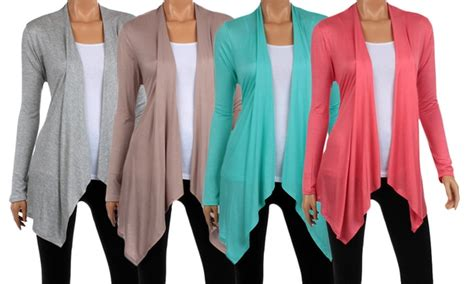 Women's Draped Lightweight Cardigan