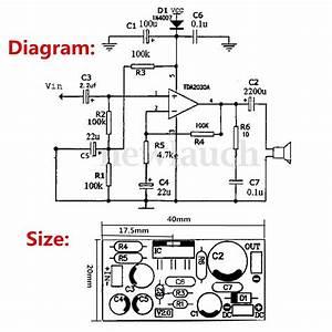 tda2030 power amplifier for amp subwoofer diy kits With tda2030 diagram