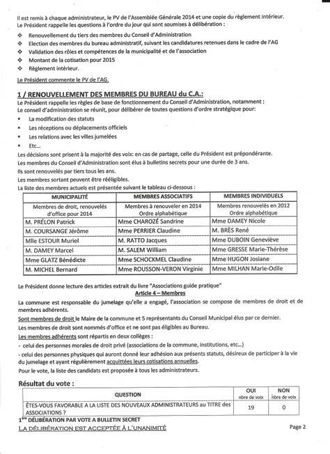proc 232 s verbal du conseil d administration du 22 juin 2014 comit 233 de jumelage de beaumont l 232 s