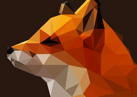 wallpaper fox low poly 3d low poly fox by caen n on deviantart Wallp