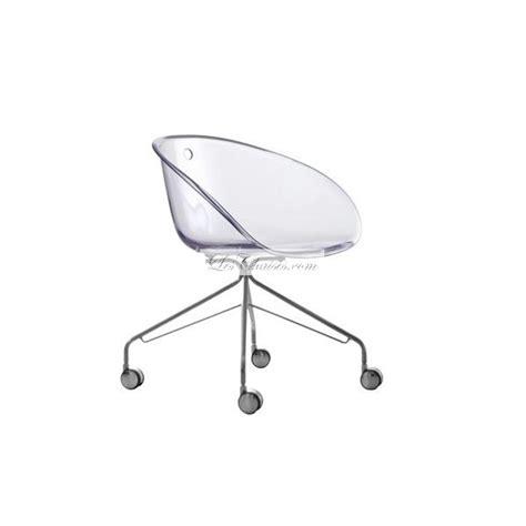 chaise de bureau transparente chaise design a gliss et chaises design pedrali