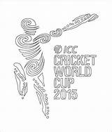 Cricket Cup Coloring Pages Icc Printable sketch template