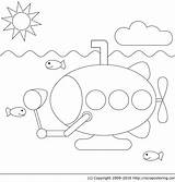 Submarine Coloring Marin Sous Coloriage Pages Yellow Imprimer Beatles Clipart Dessin Colorier Marine Clip Vie Print Dessiner Fishing Library Popular sketch template