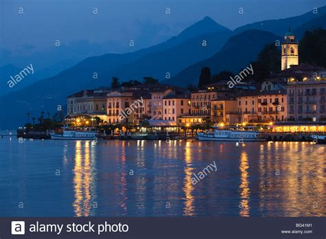 Italy Lombardy Lakes Region Lake Como Bellagio Town