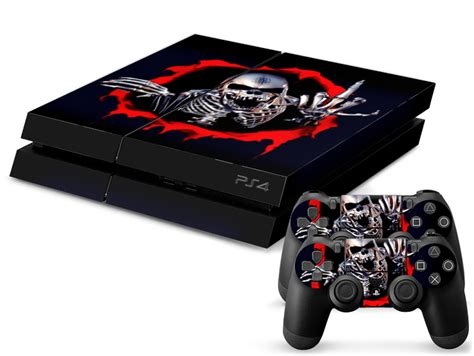 low price for playstation 4 ps4 skull crossbones skin sticker for playstation 4 ps4 console