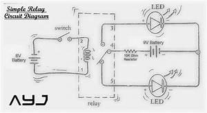 simple relay circuit circuit diagram With basic relay diagram