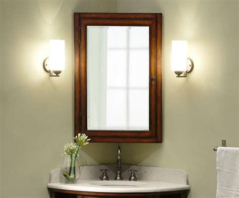 bathroom medicine cabinet mirror carlton 37 inch corner bathroom vanity cherry veneer finish