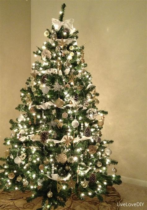 white tree with white lights ls ideas
