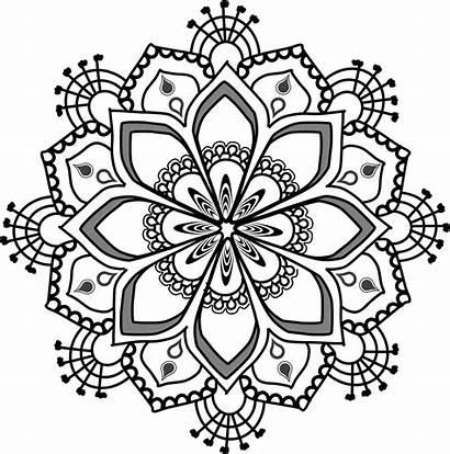 Mandala Mandalas Clip Clipart Coloring Transparent Background