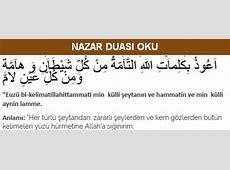 Nazar Duası Oku Arapça ve Türkçe Güncel bilgiler sitesi