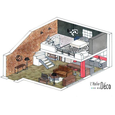 plancher bois cuisine aménagement d un studio avec mezzanine l 39 atelier de la