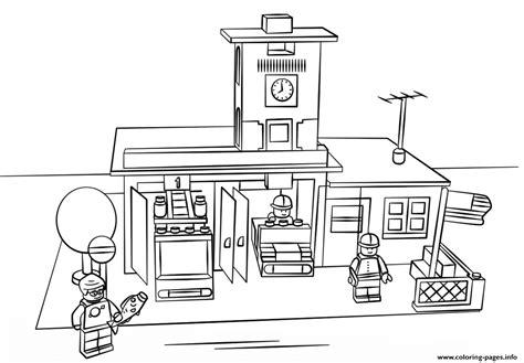 technic bureau lego station city coloring pages printable