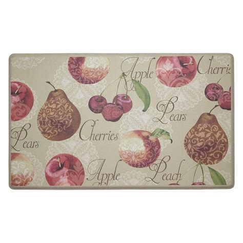 Chef Kitchen Rugs by Chef Gear Fruit 18 In X 30 In Comfort Kitchen