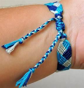 bracelet brésilien motif tresse couleur bleu turquoise et