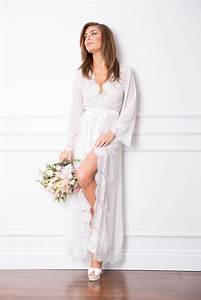helena long lace robe bridal shoes perth wedding shoes With robe wedding