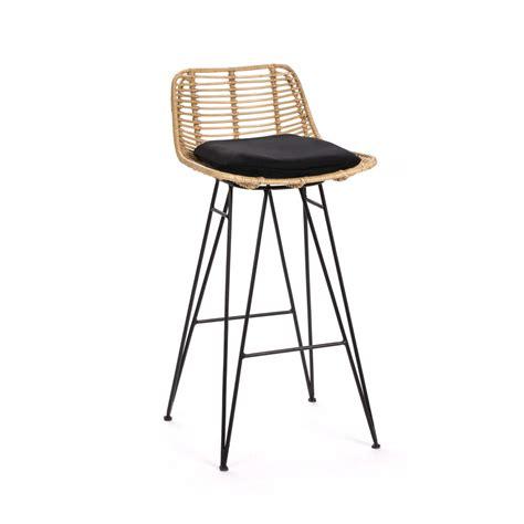 tabouret de bar rotin chaise de bar design en rotin 69cm capurgana drawer