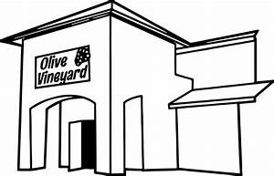 Olive Vineyard Building Front Of Restaurant Coloring Page ...