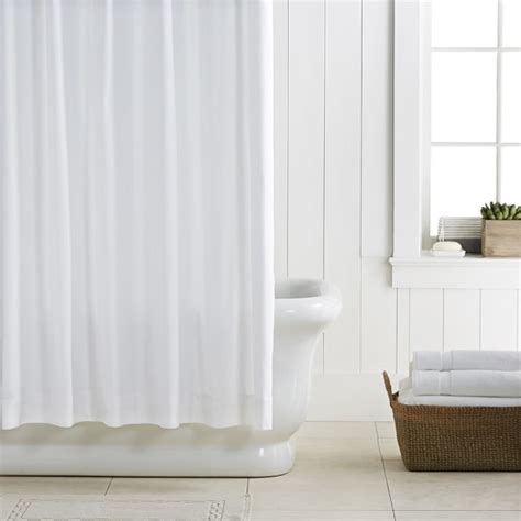 chambers 174 waffle shower curtain pique williams sonoma